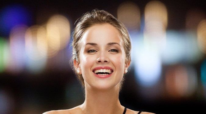 Pretty Woman Confidently Smiling